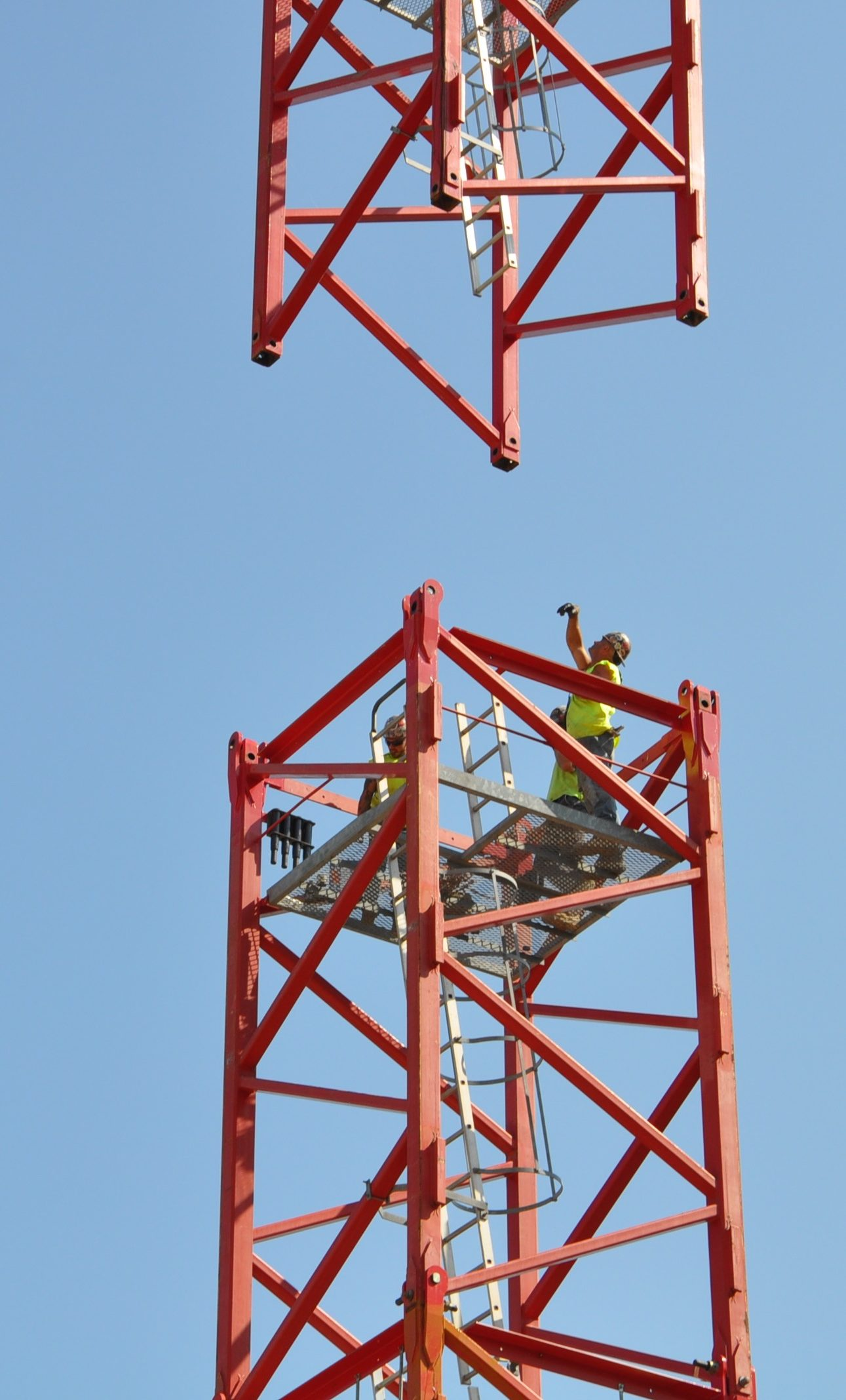crane assembly on construction site