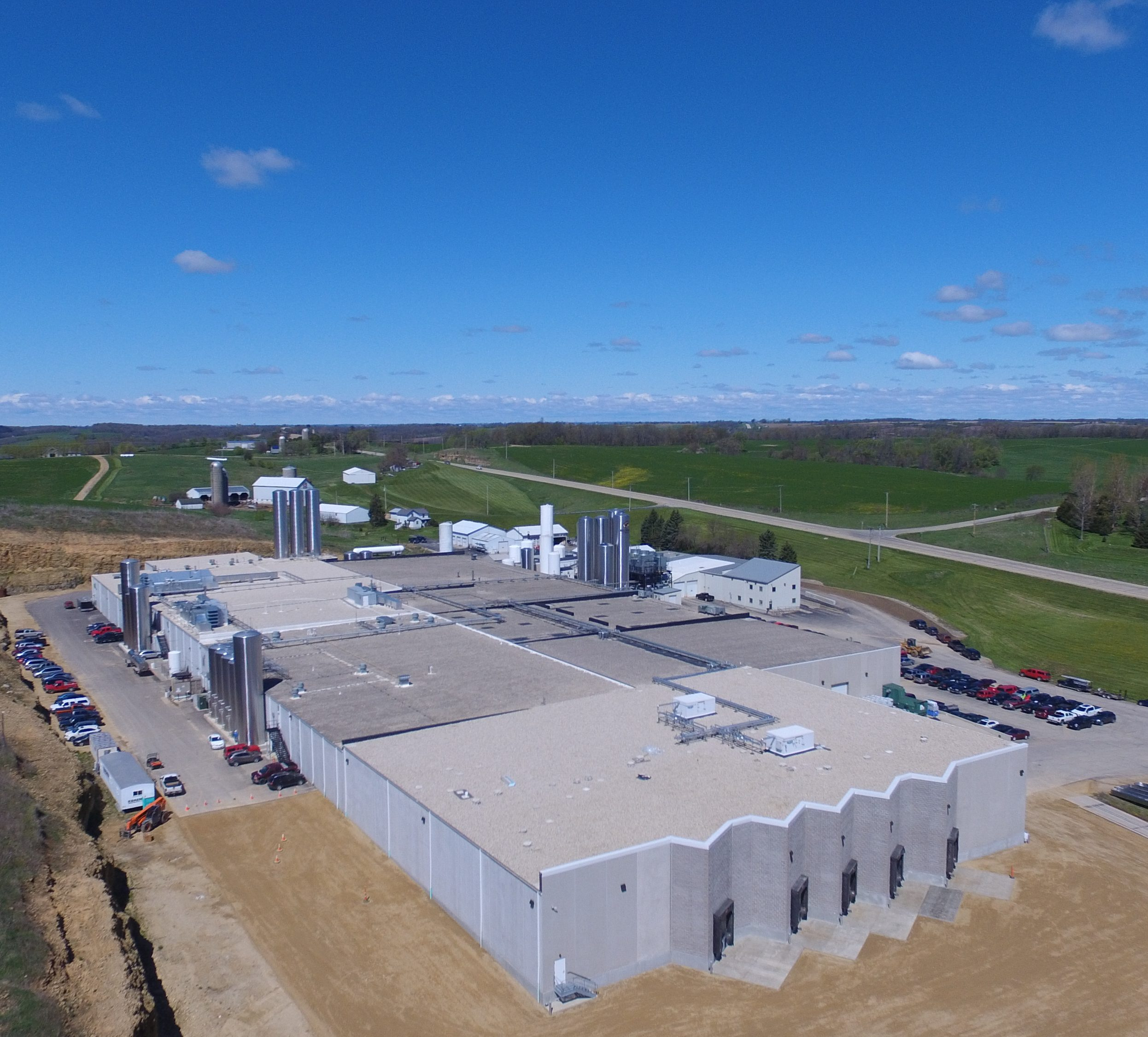drone photo cheese factory in Wisconsin