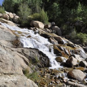 Alluvial Fan Falls Colorado art print